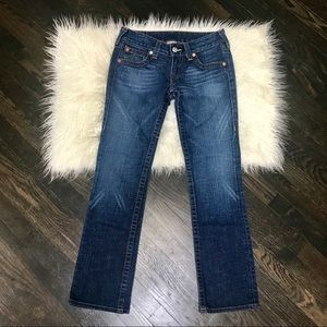 True Religion Johnny Straight Legs Jeans Size 28